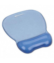 """Innovera 8-1/4"""" x 9-5/8"""" Nonskid Gel Mouse Pad with Wrist Rest, Blue"""