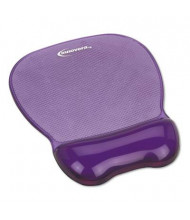 """Innovera 8-1/4"""" x 9-5/8"""" Nonskid Gel Mouse Pad with Wrist Rest, Purple"""