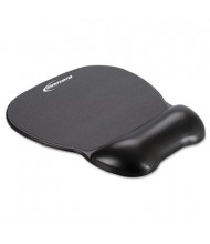 """Innovera 8-1/4"""" x 9-5/8"""" Softskin Gel Mouse Pad with Wrist Rest, Black"""