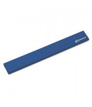 "Innovera 19-1/4"" x 2-1/2"" Natural Rubber Keyboard Wrist Rest, Blue"