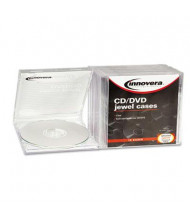 Innovera 10-Pack Standard Jewel Case, Clear