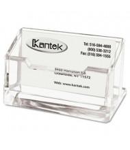 Kantek Acrylic Business Card Holder, Holds 80 Cards, Clear