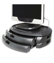 """Kantek 5"""" H LCD Monitor Stand with Drawers, Black"""