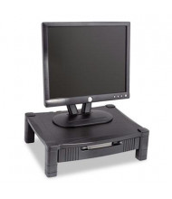 """Kantek 3"""" to 6-1/2"""" H Height-Adjustable Monitor Stand with Drawer, Black"""