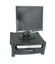 """Kantek 3"""" to 6-1/2"""" H Two Level Monitor Stand with Removable Drawer, Black"""