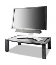 """Kantek 3"""" to 6-1/2"""" H Wide Deluxe Monitor Stand, Black"""
