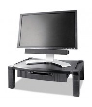 """Kantek 3"""" to 6-1/2"""" H Wide Deluxe Monitor Stand with Drawer, Black"""