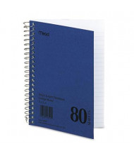 """Mead 5"""" X 7"""" 80-Sheet College Rule Notebook, Blue Cover"""