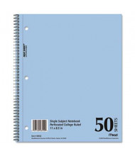 """Mead 8-1/2"""" X 11"""" 50-Sheet College Rule Notebook, Blue Cover"""