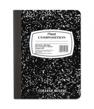 """Mead 7-1/2"""" X 9-3/4"""" 100-Sheet College Rule Composition Book, Black Marble Cover"""
