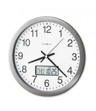 "Howard Miller 14"" Chronicle LCD Inset Wall Clock, Gray"