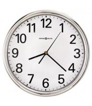 "Howard Miller 12"" Hamilton Quartz Wall Clock, Silver"