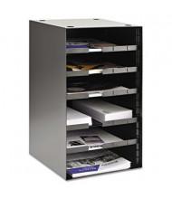 SteelMaster Adjustable Steel Desktop Sorter with 4 Shelves, Black