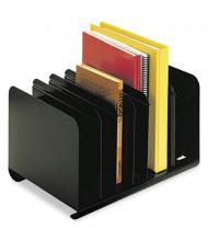 SteelMaster 6-Compartment Adjustable Book Rack, Black