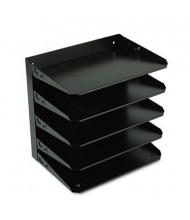 SteelMaster 5-Section Steel Multi-Tier Horizontal Letter Organizer, Black