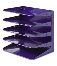 SteelMaster Five-Tier Soho Horizontal Steel Organizer Letter Tray, Blue
