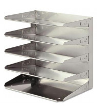 SteelMaster Five-Tier Soho Horizontal Steel Organizer Letter Tray, Silver