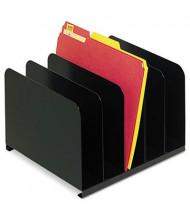 SteelMaster 5-Section Vertical Desktop Organizer, Black