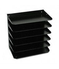SteelMaster 6-Section Steel Multi-Tier Horizontal Legal Organizer, Black