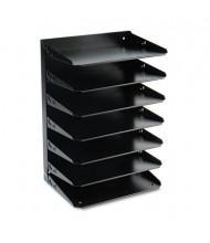 SteelMaster 7-Section Steel Multi-Tier Horizontal Letter Organizer, Black