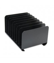 SteelMaster 8-Section Vertical Steel Desktop Organizer, Black