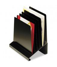 SteelMaster 6-Section Slanted Steel Vertical Organizer, Black