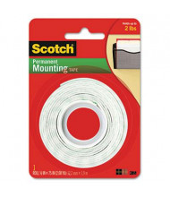 "Scotch 1/2"" x 75"" Permanent Foam Mounting Double-Sided Tape"