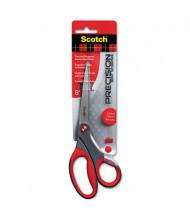 """Scotch Precision Scissors, 8"""" Length, Bent, Gray/Red"""