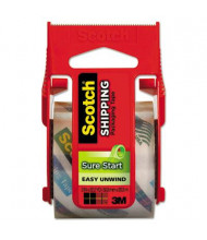 """Scotch Sure Start Packaging Tape with Dispenser, 1.5"""" Core"""