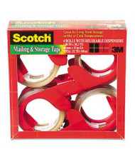 """Scotch Moving & Storage Packaging Tape with Dispensers, Clear, 4-Pack, 3"""" Core"""