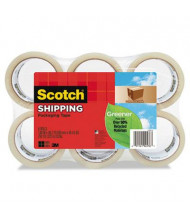 """Scotch 1.88"""" x 49.2 yds Clear Greener Commercial Grade Packaging Tape, 3"""" Core, 6-Pack"""