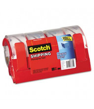 """Scotch Heavy-Duty Packaging Tape with Dispensers, Clear, 4-Pack, 3"""" Core"""
