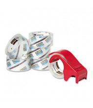 """Scotch Heavy-Duty Packaging Tape with Dispenser, Clear, 6-Pack, 3"""" Core"""