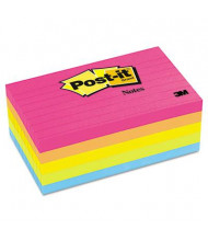 """Post-It 3"""" X 5"""", 5 100-Sheet Pads, Lined Cape Town Color Notes"""