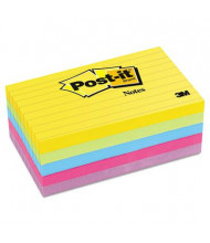 """Post-It 3"""" X 5"""", 5 100-Sheet Pads, Lined Jaipur Color Notes"""