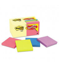 """Post-It 3"""" X 3"""", 18 100-Sheet Pads, Canary Yellow & Cape Town Notes"""