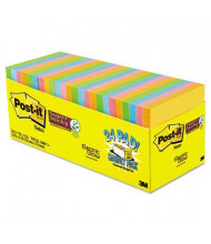"""Post-It 3"""" X 3"""", 24 70-Sheet Pads, Marrakesh Super Sticky Notes"""