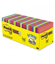 "Post-It 3"" X 3"", 24 70-Sheet Pads, Rio de Janeiro Super Sticky Notes"