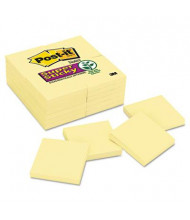 """Post-It 3"""" X 3"""", 24 90-Sheet Pads, Canary Yellow Super Sticky Notes"""