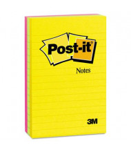 """Post-It 4"""" X 6"""", 3 100-Sheet Pads, Lined Jaipur Color Notes"""