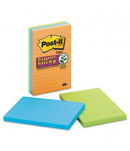 """Post-It 4"""" X 6"""", 3 90-Sheet Pads, Lined Marrakesh Super Sticky Notes"""