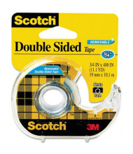 """Scotch Double-Sided Removable Tape with Dispenser, Clear, 1"""" Core"""