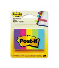 """Post-It 1/2"""" x 2"""" Page Markers, Assorted, 500 Flags/Pack"""