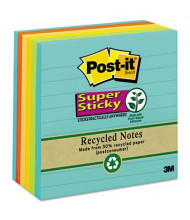 """Post-It 4"""" X 4"""", 6 90-Sheet Pads, Lined Bali Super Sticky Notes"""