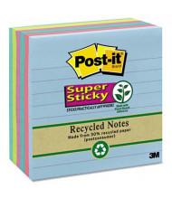 "Post-It 4"" x 4"", 6 90-Sheet Pads, Lined Bora Bora Super Sticky Notes"