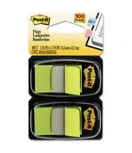 """Post-It 1"""" x 1-3/4"""" Marking Flags, Bright Green, 100 Flags/Pack"""