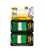 """Post-It 1"""" x 1-3/4"""" Marking Flags, Green, 600 Flags/Pack"""