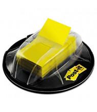"""Post-it 1"""" x 1-3/4"""" Flags in Desk Grip Dispenser, Yellow, 200 Flags/Dispenser"""