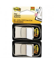 """Post-It 1"""" x 1-3/4"""" Marking Flags, White, 100 Flags/Pack"""