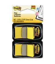 """Post-It 1"""" x 1-3/4"""" Marking Flags, Yellow, 100 Flags/Pack"""